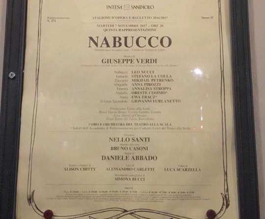 CARTELLONE NABUCCO
