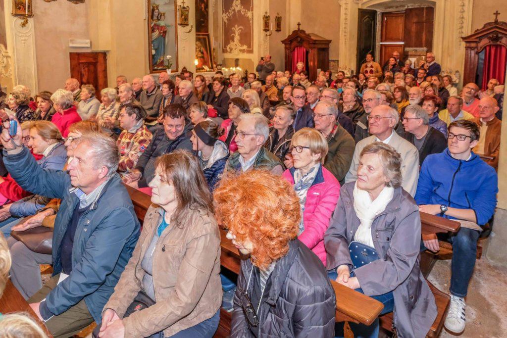 pubblico delle grandi occasioni ieri a Scaria per il concerto dei VOLPES